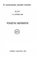 VIII југословенски геолошки конгрес - Пленарни реферати