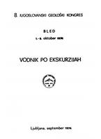 VIII југословенски геолошки конгрес - Водич екскурзија